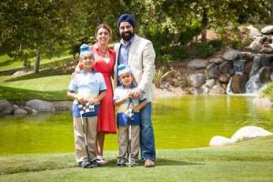 Jasleen Kaur and family.