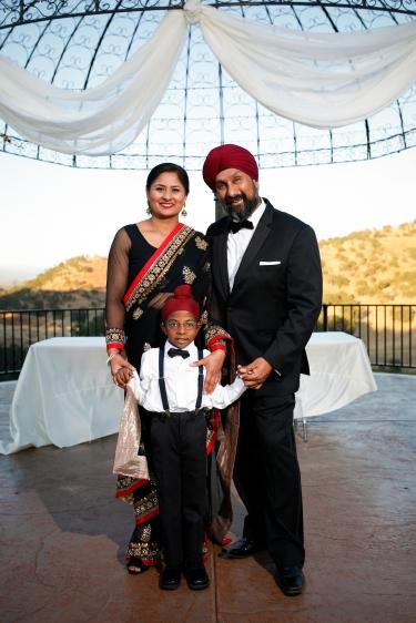 Navjot Kaur and family.