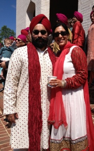 Anu Kaur with husband