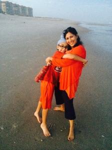 Anu Kaur with son