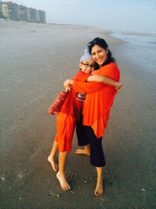 Anu Kaur with son