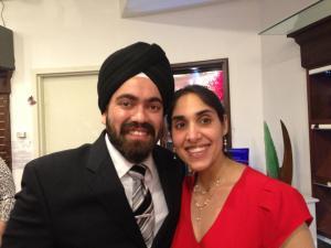 Puneet and her husband, Gurmukh