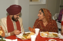 Puneet and Gurmukh on their wedding day