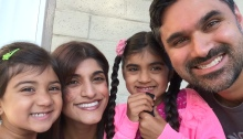 Preeti with her husband and daughters