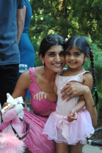 Preeti with her daughter