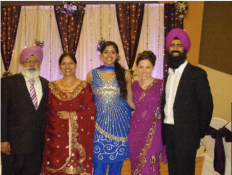 Pushpinder Kaur and her family