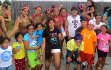 Sarabjeet with Fellow Kaurs after participating in the Mud Run