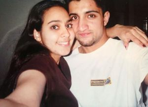 Manpreet and her husband in their early years of dating