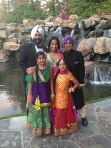 Parveen Dhillon with her family