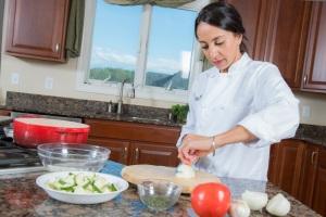 Chef Guddia in the kitchen
