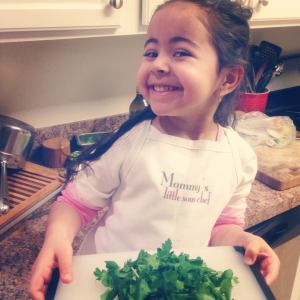 Chef Guddia's daughter already enjoying the process of cooking