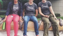 Sargun Kaur in Google gear